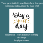 1st John: April's Scripture Writing Challenge