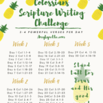 Colossians Writing Challenge